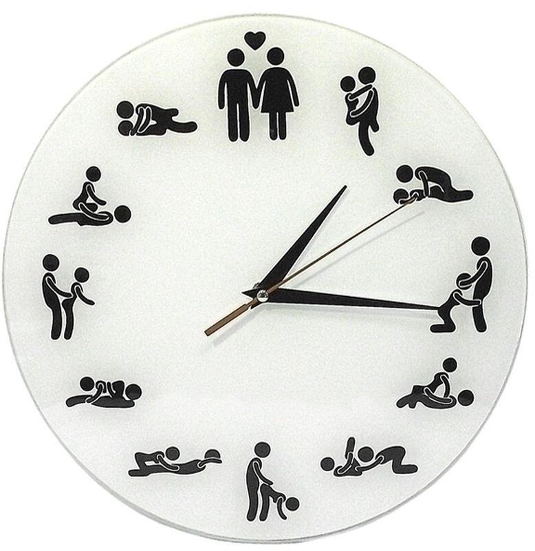 Часы Эврика Камасутра, стеклянные93103`Не трать время попусту!`Оригинальные часы с прямым обычным ходом. Высокое качество исполнения, Bec елые картинки, механизм обычный - тикающий. Диск выполнен из стекла, окрашивание с тыльной стороны многослойным нанесением. Элемент питания 1хАА LR6. Размеры упаковки: 30х29х5 см. Размер часов: диам. 28 см, глубина 4 см. Упаковка: белый гофрированный картон.