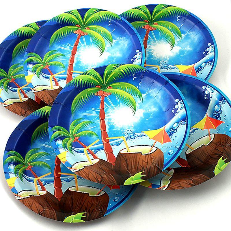 Набор тарелок Эврика Пальма, 6 шт115610Набор картонных тарелочек с красочным рисунком. Количество тарелочек в наборе 6 шт, диаметр тарелочки 19 см, глубина 2.5см.