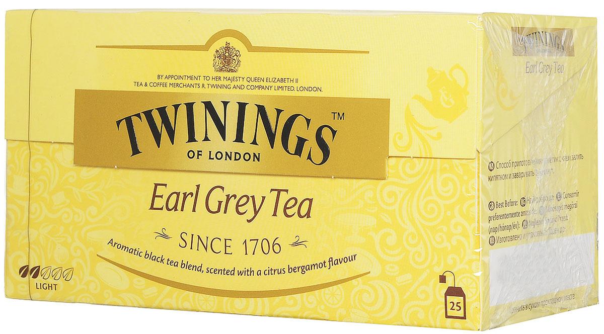Twinings Earl Grey чай черный в пакетиках, 25 шт02288Чай Twinings - это истинно английский напиток премиум-класса, который выпускается одним из лидеров международного рынка чая. Компания была основана в 1706 Томасом Твайнингом, который открыл свой частный чайный салон в Лондоне, на улице Стрэнд. Начните день с чашки душистого напитка и ощутите прилив сил и хорошего настроения.