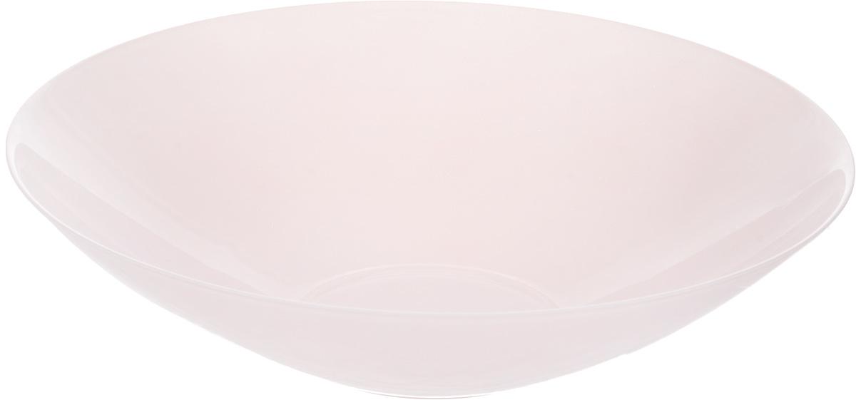 Салатник NiNaGlass Голландия, цвет: розовый, матовый, диаметр 30 см83-012-Ф30 РОЗСалатник NiNaGlass Голландия выполнен из высококачественного стекла. Салатник идеален для сервировки салатов, овощей, ягод, фруктов, гарниров и многого другого. Он отлично подойдет как для повседневных, так и для торжественных случаев. Такой салатник прекрасно впишется в интерьер вашей кухни и станет достойным дополнением к кухонному инвентарю. Диаметр салатника (по верхнему краю): 30 см. Высота стенки: 7,5 см.