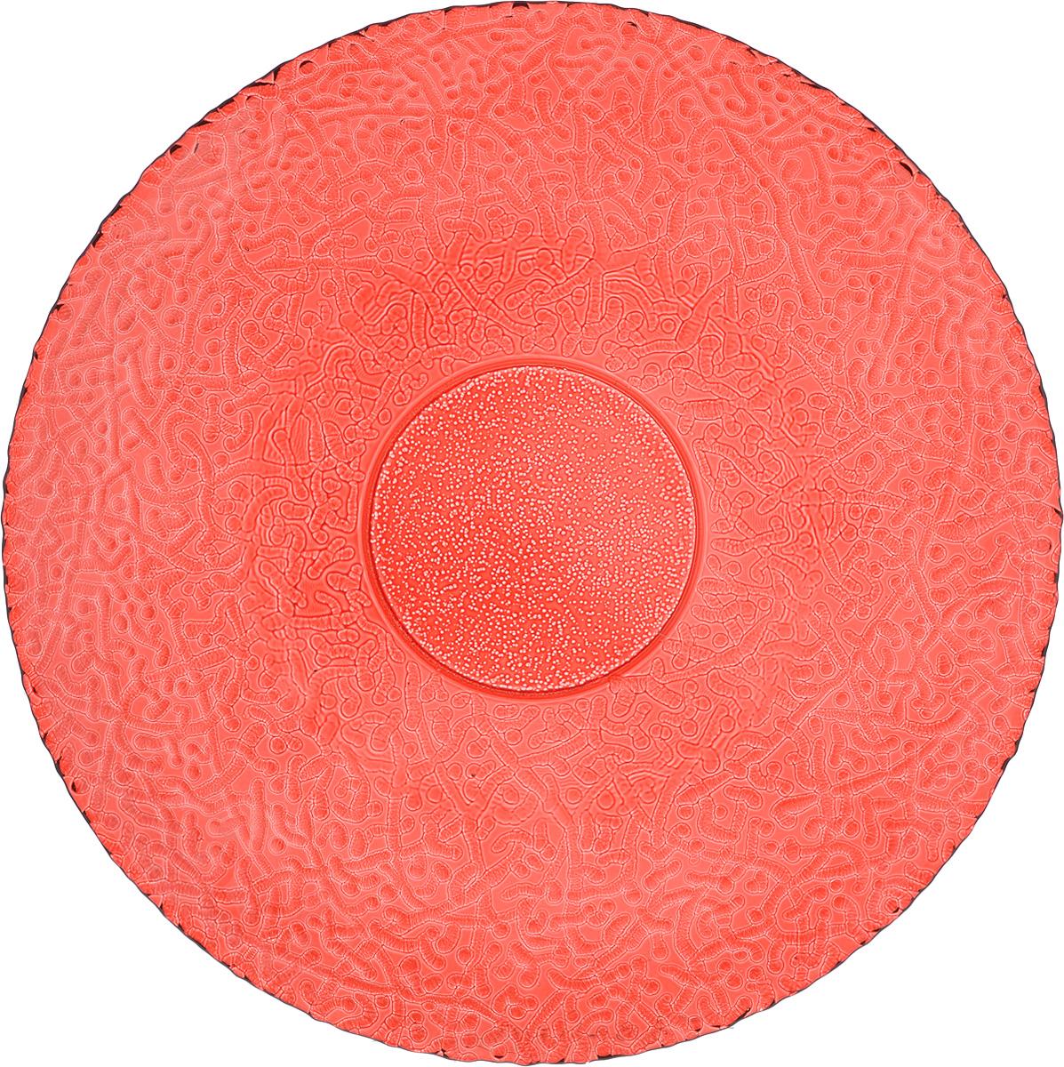 Тарелка NiNaGlass Ажур, цвет: рубиновый, диаметр 26 см83-071-Ф260 РУБТарелка NiNaGlass Ажур выполнена из высококачественного стекла и имеет рельефную внешнюю поверхность. Она прекрасно впишется в интерьер вашей кухни и станет достойным дополнением к кухонному инвентарю. Тарелка NiNaGlass Ажур подчеркнет прекрасный вкус хозяйки и станет отличным подарком. Диаметр тарелки: 26 см. Высота: 3 см.