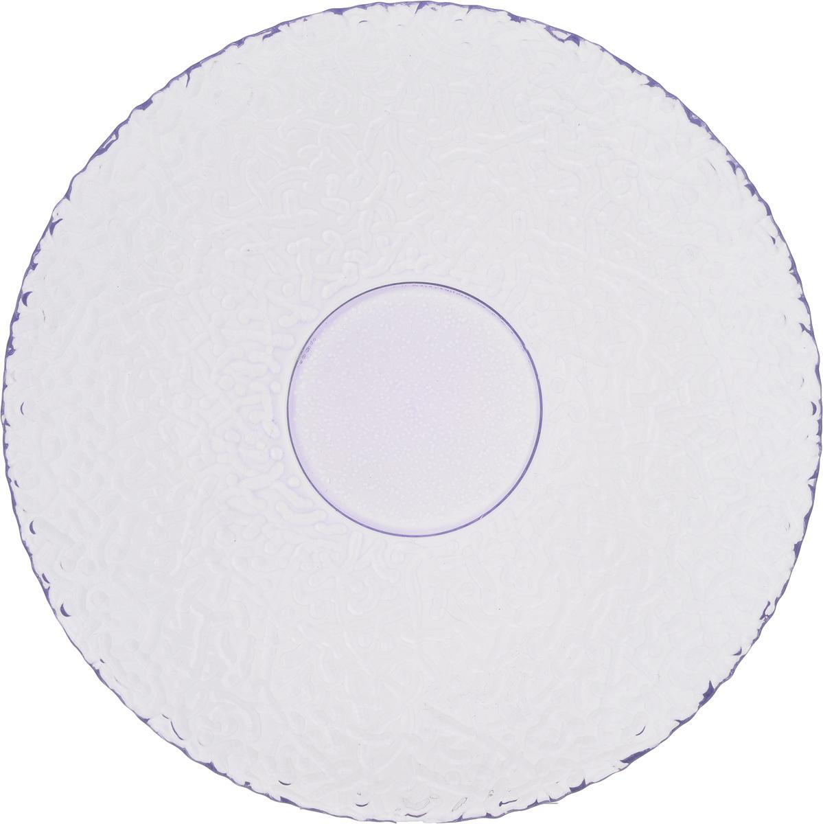 Тарелка NiNaGlass Ажур, цвет: светло-сиреневый, диаметр 21 см83-070-ф210 ЛАВАНТарелка NiNaGlass Ажур выполнена из высококачественного стекла и имеет рельефную поверхность. Она прекрасно впишется в интерьер вашей кухни и станет достойным дополнением к кухонному инвентарю. Тарелка NiNaGlass Ажур подчеркнет прекрасный вкус хозяйки и станет отличным подарком. Диаметр тарелки: 21 см. Высота: 2,5 см.