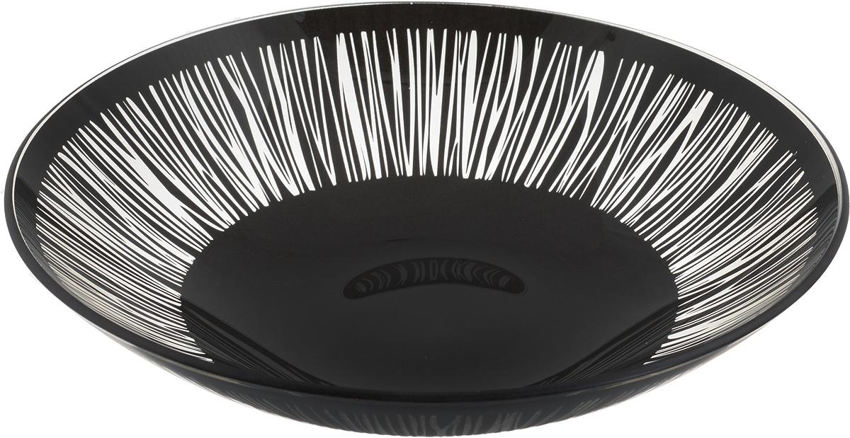 Тарелка глубокая NiNaGlass Витас, цвет: черный, диаметр 22 см85-225-016/чернТарелка NiNaGlass Витас выполнена из высококачественного стекла и оформлена цветочным узором. Она прекрасно впишется в интерьер вашей кухни и станет достойным дополнением к кухонному инвентарю. Тарелка NiNaGlass Витас подчеркнет прекрасный вкус хозяйки и станет отличным подарком. Диаметр тарелки: 22 см. Высота: 5 см.