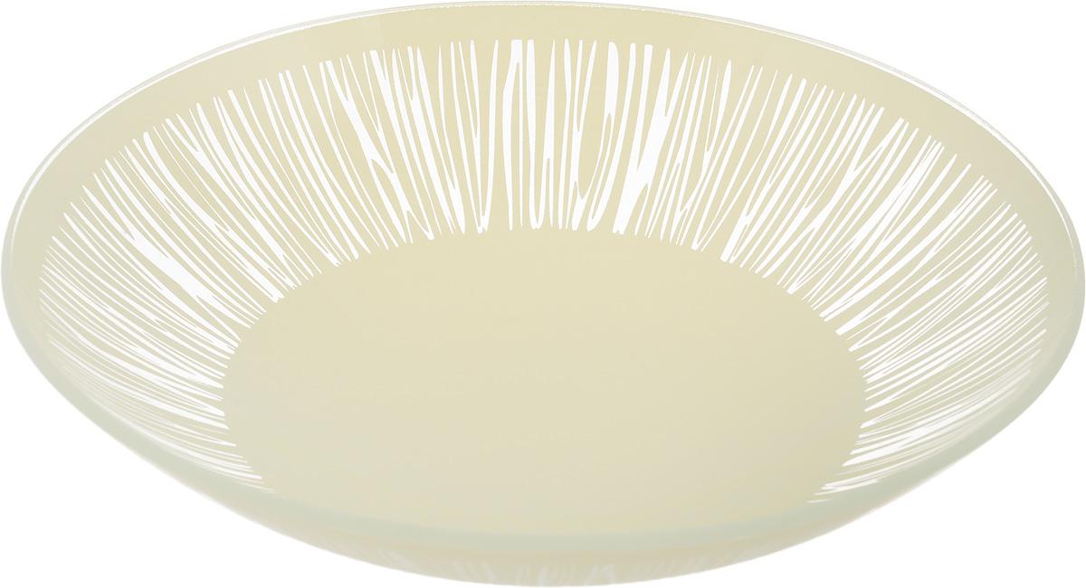 Тарелка глубокая NiNaGlass Витас, цвет: светло-бежевый, диаметр 22 см85-225-016/белТарелка NiNaGlass Витас выполнена из высококачественного стекла и оформлена цветочным узором. Она прекрасно впишется в интерьер вашей кухни и станет достойным дополнением к кухонному инвентарю. Тарелка NiNaGlass Витас подчеркнет прекрасный вкус хозяйки и станет отличным подарком. Диаметр тарелки: 22 см. Высота: 5 см.