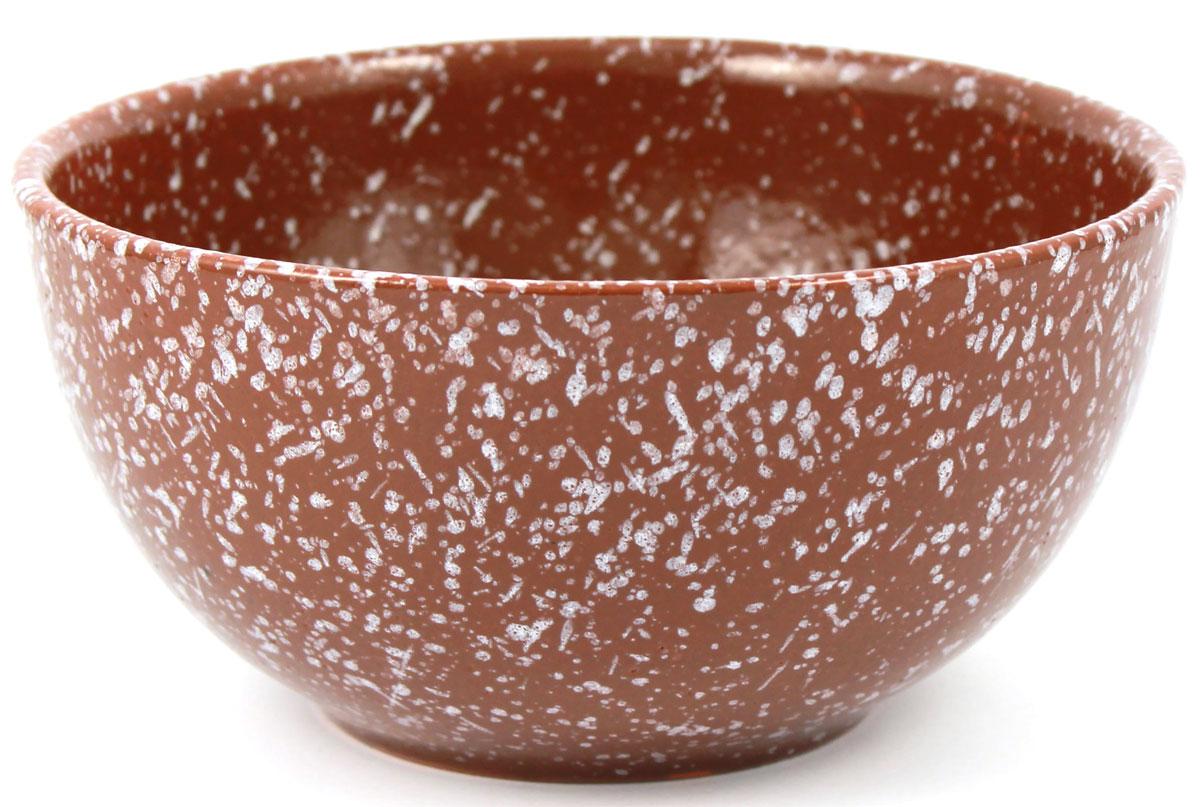 Салатник Ломоносовская керамика, 1 л, мрамор. Диаметр: 18 см. Цвет: коричневый. 1С3мк-21С3мк-2