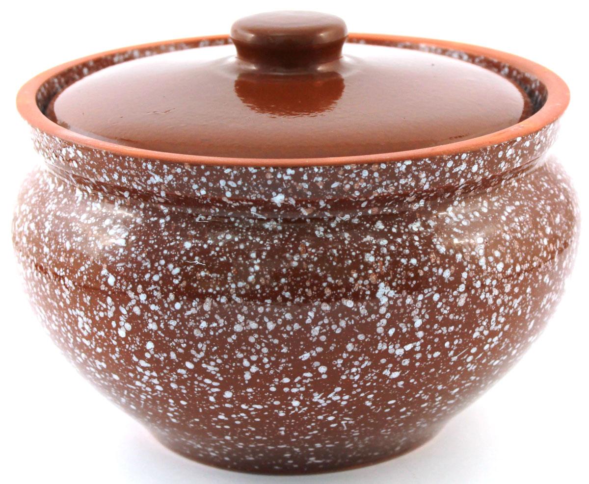Горшок для запекания Ломоносовская керамика, с крышкой, цвет: коричневый мрамор, 1,5 л1Г3мк-12Горшок для запекания Ломоносовская керамика с крышкой выполнен из высококачественной глины. Уникальные свойства глины и толстые стенки изделия обеспечивают эффект русской печи при приготовлении блюд. Блюда, приготовленные в керамическом горшке, получаются нежными и сочными. Вы сможете приготовить мясо, сделать томленые овощи и все это без капли масла. Это один из самых здоровых способов готовки.