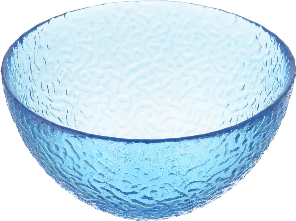 Салатник NiNaGlass Ажур, цвет: синий, диаметр 16 см83-041-Ф160 СИНСалатник Ninaglass Ажур выполнен из высококачественного стекла и имеет рельефную внешнюю поверхность. Такой салатник украсит сервировку вашего стола и подчеркнет прекрасный вкус хозяйки, а также станет отличным подарком. Диаметр салатника (по верхнему краю): 16 см. Высота салатника: 8,5 см.