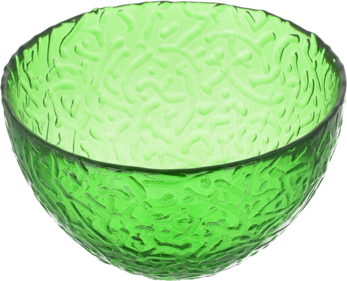 Салатник NiNaGlass Ажур, цвет: зеленый, диаметр 12 см83-040-Ф120 ЗЕЛСалатник Ninaglass Ажур выполнен из высококачественного стекла и имеет рельефную внешнюю поверхность. Такой салатник украсит сервировку вашего стола и подчеркнет прекрасный вкус хозяйки, а также станет отличным подарком. Диаметр салатника (по верхнему краю): 12 см. Высота салатника: 7,5 см.