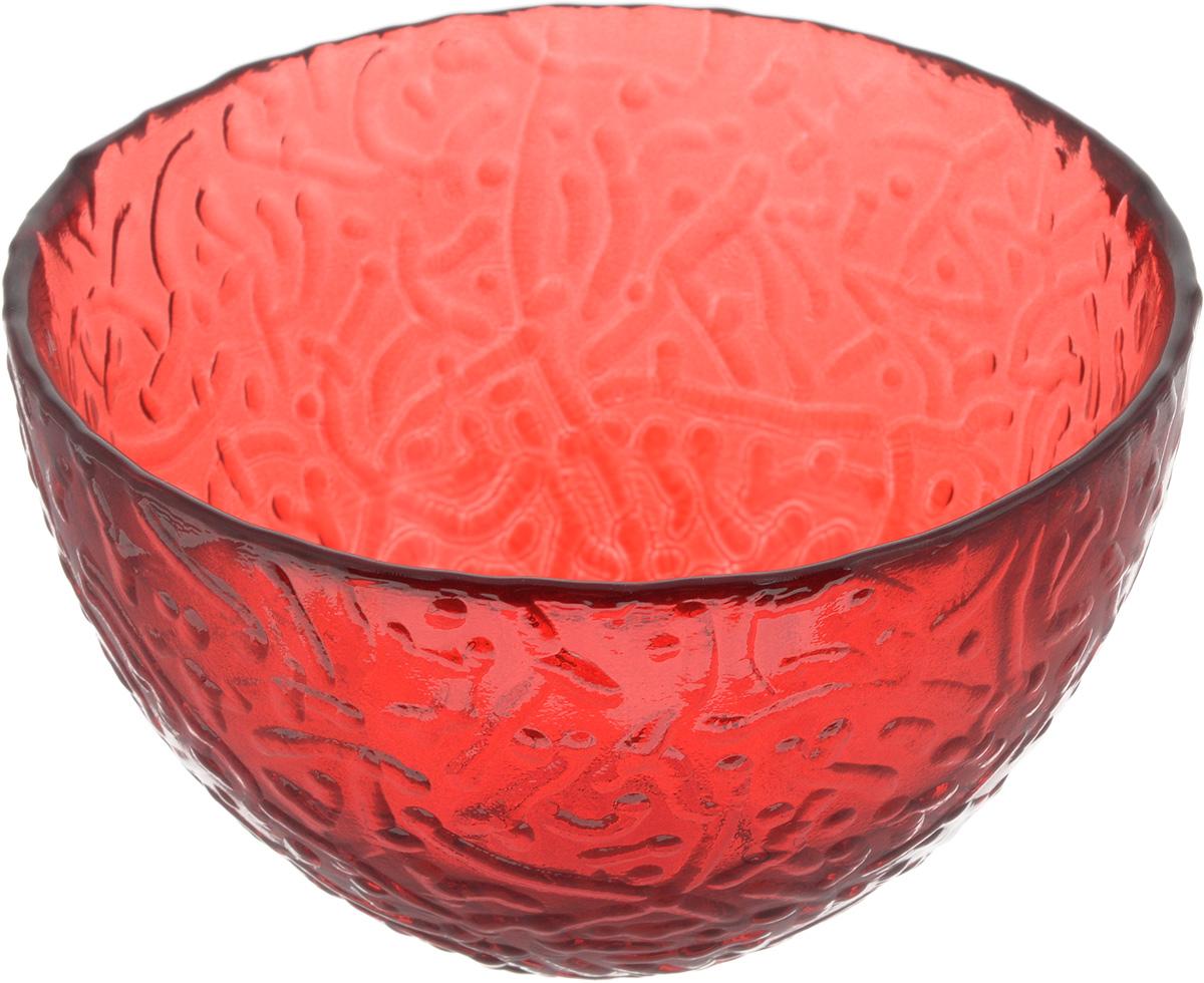 Салатник NiNaGlass Ажур, цвет: рубиновый, диаметр 12 см83-040-Ф120 РУБСалатник NiNaGlass Ажур выполнен из высококачественного стекла и имеет рельефную внешнюю поверхность. Такой салатник украсит сервировку вашего стола и подчеркнет прекрасный вкус хозяйки, а также станет отличным подарком. Диаметр салатника (по верхнему краю): 12 см. Высота салатника: 7,5 см.