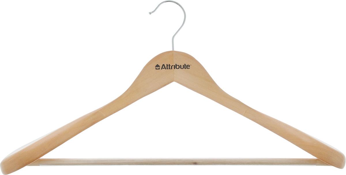 Вешалка для верхней одежды Attribute Classic, длина 44 см. AHN211AHN211Вешалка Attribute Classic, изготовленная из дерева и стали, предназначена для верхней одежды. Вешалка снабжена массивными плечиками, а также перекладиной с пластиковым покрытием. Вешалка - это незаменимый аксессуар для того, чтобы ваша одежда всегда оставалась в хорошем состоянии. Длина вешалки: 44 см.
