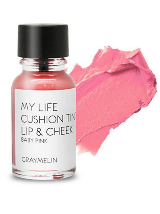 Graymelin, Тинт для губ и щек (baby pink), Cushion Tint Lip & Cheek8809435713118Легкий тинт для губ и скул с консистенцией эссенции от Graymelin, сохраняет цвет и сочность губ в течение длительного времени, придает румянец и здоровый цвет коже лица, активно увлажняет, питает и впитывается без растекания. Это декоративное и ухаживающее средство не оставляет на губах дискомфорта и жирного блеска, после нанесения не смазывается.