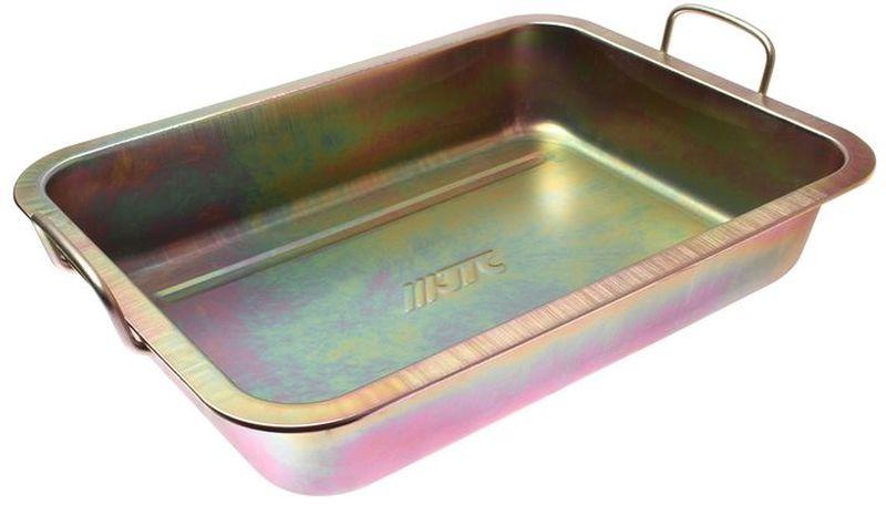 Емкость для слива масла JTC, металлическая, 10 лJTC-AM47Емкость для слива масла JTC представляет собой металлическую ванну небольших размеров. С помощью данного приспособления процесс замены масла в транспорте, а также в других различных механизмах и агрегатах становится значительно проще и удобнее. Ванна надежно защищена от воздействия коррозии и устойчива к различным механическим воздействиям, что обеспечивает продолжительный срок службы изделия. Размеры изделия: 49 х 37 х 10 см.