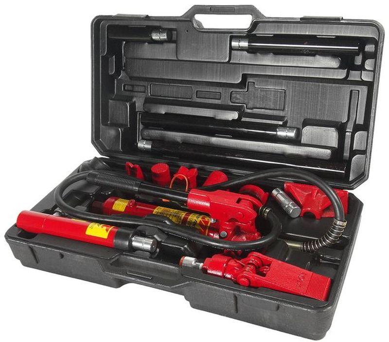 Набор инструментов для кузовных работ JTC, гидравлический, 17 предметов. JTC-HD204JTC-HD204В комплект входят: Ручной односкоростной гидронасос. Шланг соединительный: 1.5 м. Рабочий гидроцилиндр: 4 т. Шток: 100 мм. Гидравлический расширитель: 500 кг. Удлинитель: 400 мм. Удлинитель: 300 мм. Удлинитель: 200 мм. Удлинитель: 100 мм. Коннектор с наружной резьбой. Плоский упор. V-образный упор 90°. Клиновая головка. Упор плунжера. Упор цилиндра. Резиновая головка. Зубчатый упор. Пластиковый кейс. Рабочее усилие: 4 т. Габаритные размеры: -/-/- мм. (Д/Ш/В) Вес: - гр.