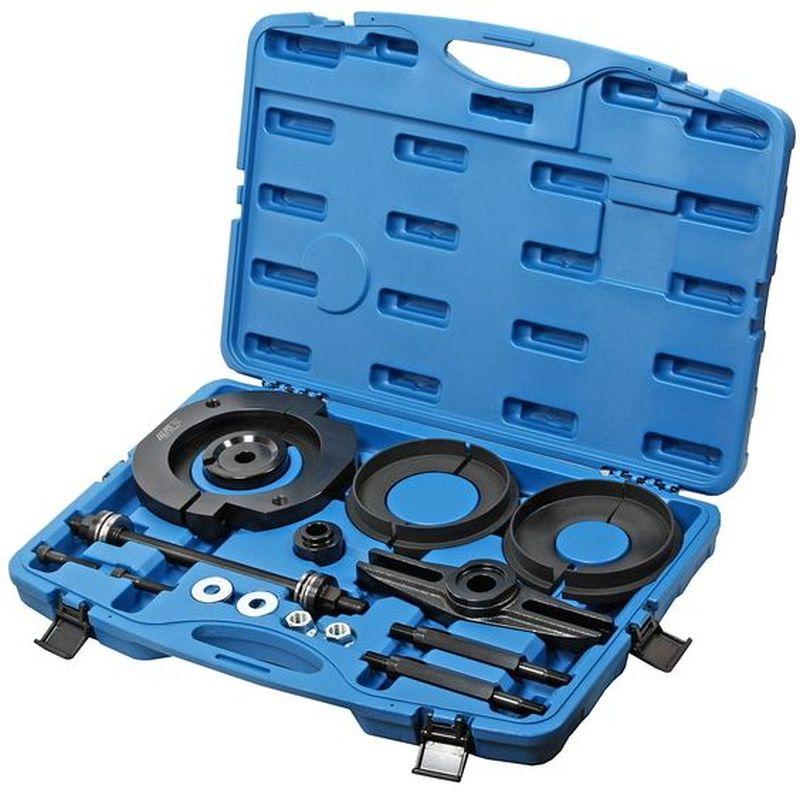 Съемник подшипника ступицы JTC, для VW Transporter. JTC-JW0771CA-3505Предназначен для снятия подшипника ступицы. Все работы выполняются на автомобиле. Применение: Фольксваген (Volkswagen) T5 Transporter. Упаковка: прочный переносной кейс. Габаритные размеры: 600/420/100 мм. (Д/Ш/В) Вес: 16092 гр.