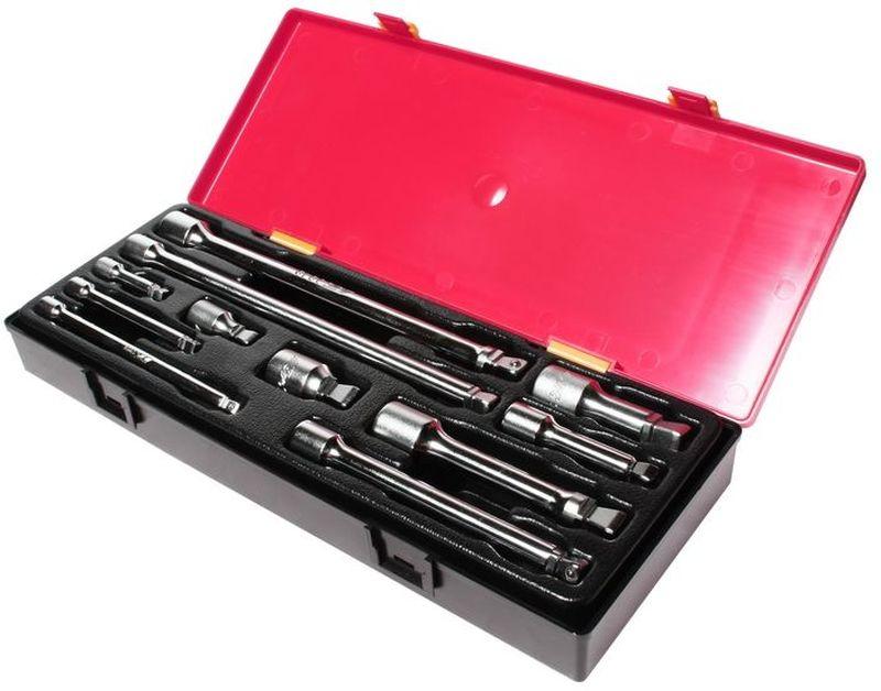 Набор удлинителей JTC, плавающих, 11 шт. JTC-K1112JTC-K1112Набор плавающих удлинителей для ключей JTC изготовлен из высококачественной стали. Для удобства транспортировки и хранения предметы набора упакованы в пластиковый контейнер. В комплекте: - 1/4 плавающий удлинитель - 2, 4, 6 - 3 шт; - 3/8 плавающий удлинитель 1-3/4, 3, 6, 10 - 4 шт; - 1/2 плавающий удлинитель 2, 3, 5, 10 - 4 шт.