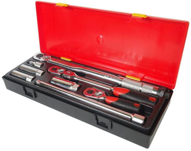 Набор инструментов JTC, для свечей зажигания, 8 предметовJTC-K3082Набор инструментов JTC предназначен для свечей зажигания. Инструменты изготовлены из высококачественной стали. Для удобства хранения и транспортировки все предметы набора упакованы в пластиковый кейс. В комплекте: - динамометрический ключ 3/8 с диапазоном затяжки 10-80 FT/LB - 1 шт; - трещотка (с прорезиненной рукояткой) - 1 шт; - трещотка укороченная (с прорезиненной рукояткой) - 1 шт; - удлинитель плавающий под ключ 3/8, 1-3/4, 10 - 2 шт; - головка для свечей зажигания 3/8 (с пружинным фиксатором) 14 мм. - 1 шт; - головка для свечей зажигания 3/8 (с пружинным фиксатором), 16, 21 мм. - 2 шт.