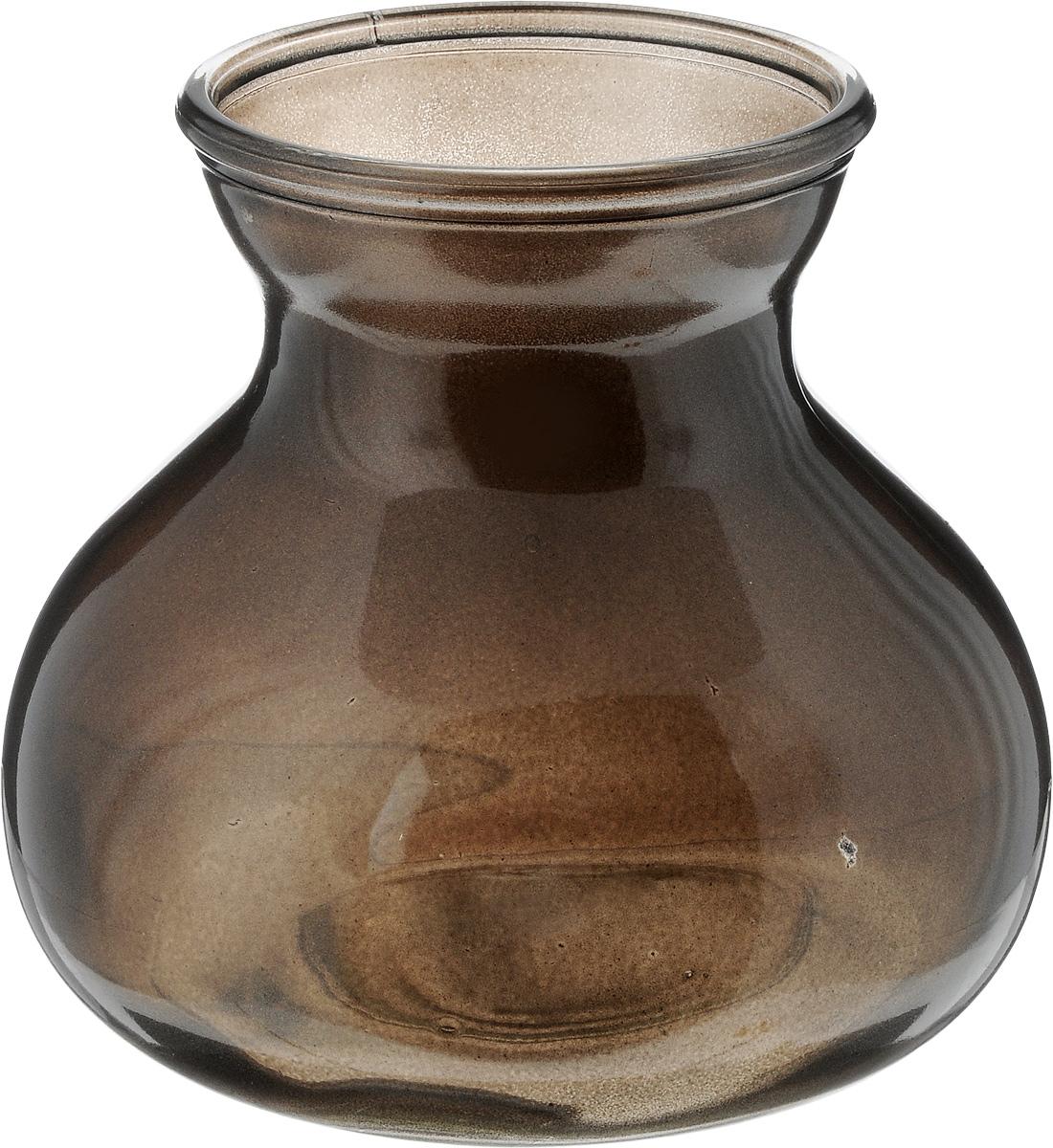 Ваза NiNaGlass Дана, цвет: шоколад, высота 16 см92-024 ШОКВаза NiNaGlass Дана выполнена из высококачественного стекла и имеет изысканный внешний вид. Такая ваза станет ярким украшением интерьера и прекрасным подарком к любому случаю. Высота вазы: 16 см. Диаметр вазы (по верхнему краю): 10 см. Объем вазы: 1,5 л.