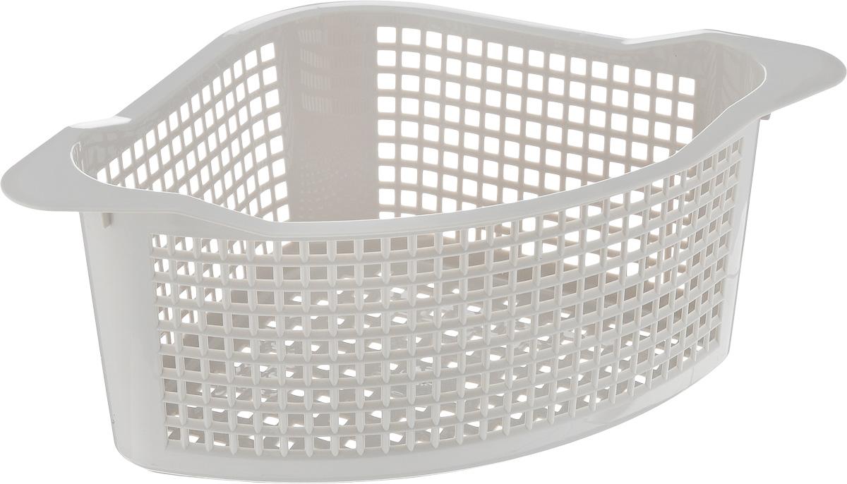 Корзинка универсальная Econova, угловая, цвет: серый, 29 х 18 х 12 см718343_серыйУниверсальная угловая корзинка Econova, изготовленная из высококачественного прочного пластика, предназначена для хранения мелочей в ванной, на кухне или даче. Это легкая корзина с жесткой кромкой и небольшими отверстиями позволяет хранить мелкие вещи, исключая возможность их потери. Размер: 29 см х 18 см х 12 см.