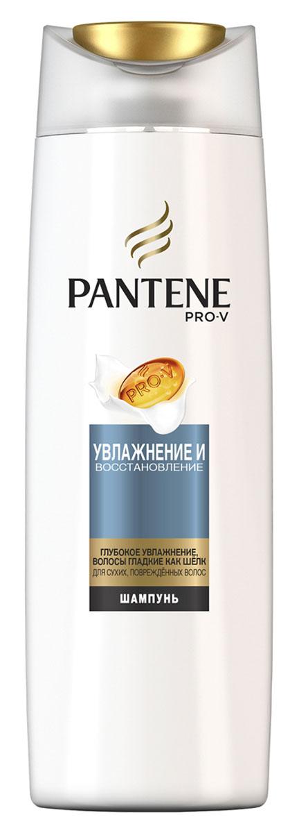Pantene Pro-V Шампунь Увлажнение и восстановление, 400 мл81601057Шампунь Pantene Pro-V Увлажнение и восстановление содержит формулу Pro-V. Микровещества этой увлажняющей коллекции восстанавливают самые сухие участки волос и защищают естественный липидный слой. Результат - напитанные влагой, гладкие и шелковистые волосы. Средства коллекции Увлажнение и восстановление интенсивно увлажняют волосы, не утяжеляя их. Для наилучших результатов используйте с бальзамом-ополаскивателем и средствами для ухода за волосами Pantene Pro-V Увлажнение и восстановление.