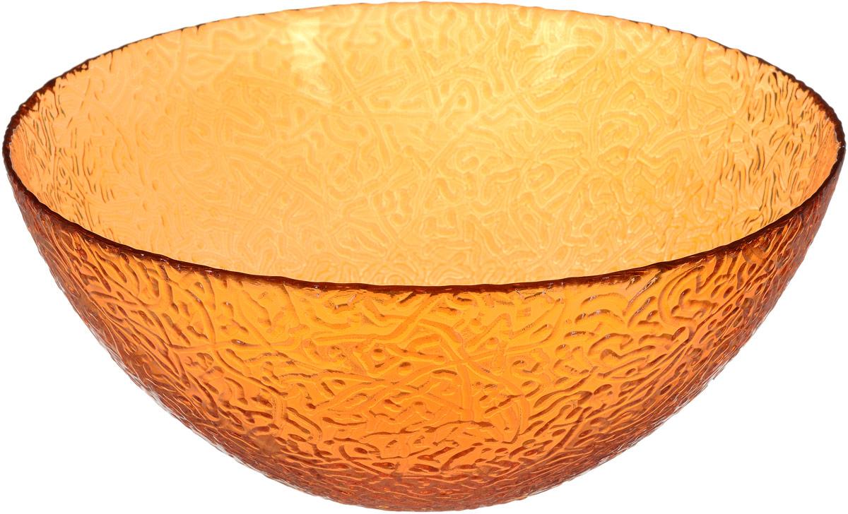 Салатник NiNaGlass Ажур, цвет: оранжевый, диаметр 25 см83-043-ф250 ОРЖСалатник NiNaGlass Ажур изготовлен из высококачественного стекла. Внешние стенки декорированы красивым рельефным узором. Он подойдет для сервировки стола, как для повседневных, так и для торжественных случаев. Диаметр салатника (по верхнему краю): 25 см. Высота салатника: 10,5 см.