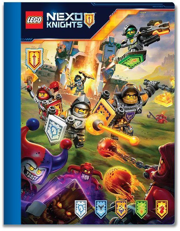 LEGO Nexo Knights Тетрадь 100 листов в линейку 5164151641Тетрадь в линейку LEGO Nexo Knights предназначена для школьных занятий и просто для записей. Стильный дизайн обложки, сочетающий различные цвета и изображения любимых персонажей делает тетрадь подходящей для учеников начальной и средней школы. Плотная обложка из высококачественного картона не даст помяться страничкам.