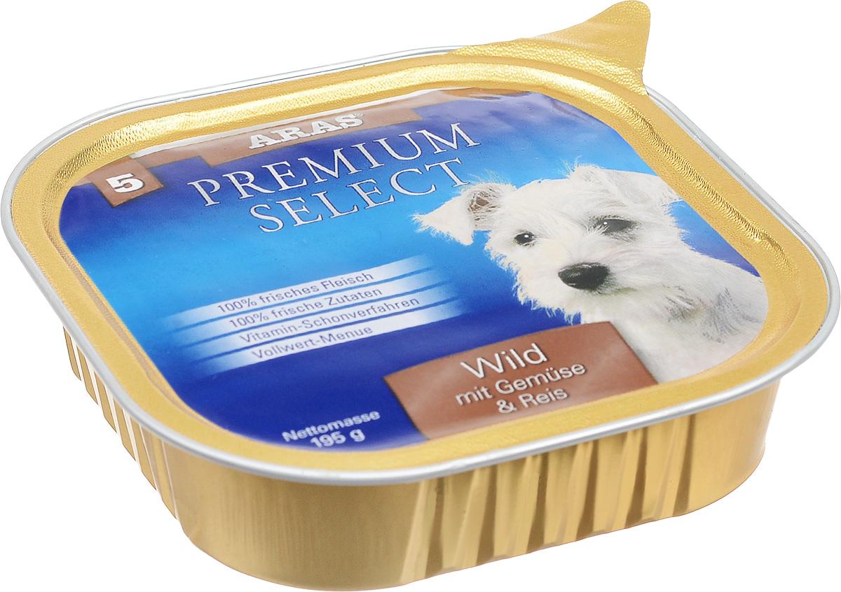 Консервы для собак Aras Premium Select, с дичью, овощами и рисом, 195 г101205Повседневный консервированный корм Aras Premium Select подходим для собак всех пород и всех возрастов. При производстве корма используются исключительно свежие натуральные продукты: мясо дичи и говядины, овощи, рис и экстракт масла зародышей зерна пшеницы холодного отжима (Bio-Dura). Благодаря уникальной технологии, схожей с технологий Souse Vide, при изготовлении сохраняются все натуральные витамины и минералы. Это достигается благодаря бережной обработке всех ингредиентов при температуре менее 80 градусов. Такая бережная обработка продуктов не стерилизует продуктовые компоненты, поэтому корма не нуждаются ни в каких дополнительных вкусовых добавках и сохраняют все необходимые полезные вещества. Не содержит химических красителей, усилителей вкуса, искусственных консервантов, химических добавок и ГМО. Состав: мясо (дичь/говядина) 95%, овощи 2%, рис 1%, экстракт зародышей пшеницы холодного отжима 2%. Пищевая ценность: белки 12,8%, жиры...