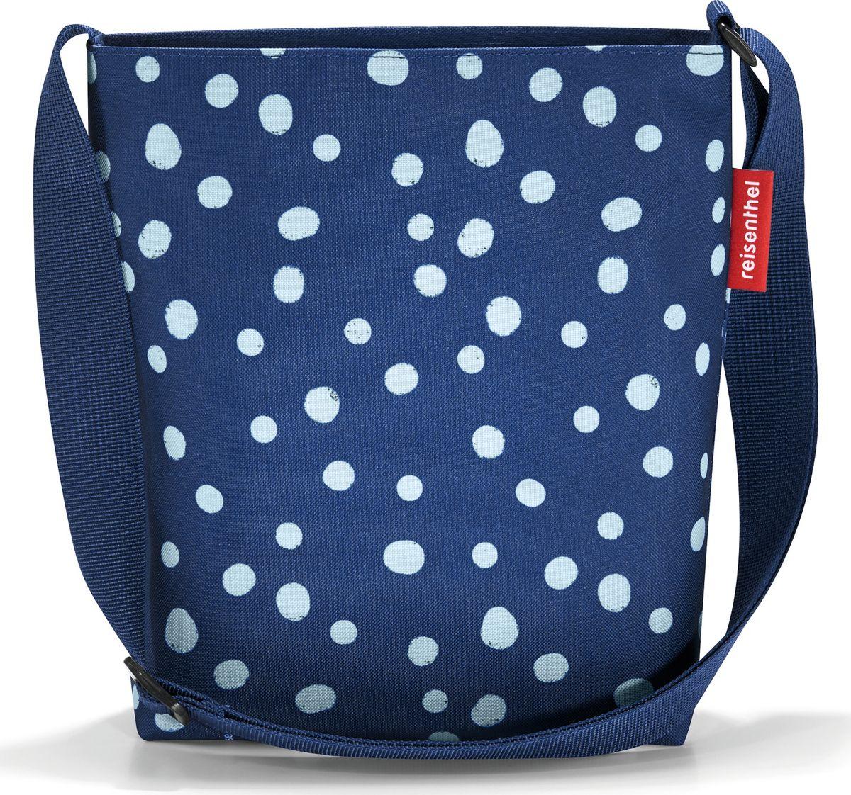 Сумка женская Reisenthel Shoulderbag S, цвет: синий. HY4044HY4044Простая, но очень вместительная сумка на плечо. Сочетание нескольких цветов позволяет носить сумку со множеством самых разных нарядов, не изменяя собственному стилю. Застегивается на молнию. Широкий удобный ремень регулируемой длины.