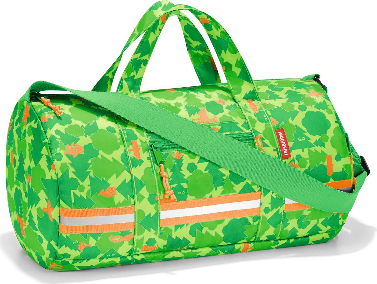 Сумка десткая Reisenthel Dufflebag S, цвет: зеленый. IH5035101057Универсальная сумка-трансформер, предназначенная для путешествий и спорта. Экстралегкая, она практически ничего не весит, так что ребенок будет нести в руках только ее содержимое. Для хранения сумку можно легко свернуть внутрь собственного внешнего кармана. Вместительное основное отделение, внутренний карман и два внешних кармана на молнии. Регулируемый наплечный ремень и удобные ручки для переноски, фиксируемые при помощи специальных застежек. Внутри сумки есть карабин для ключей и вставка, куда можно вписать имя ребенка. Яркая расцветка будет радовать глаз, а светоотражающие элементы обеспечат дополнительную безопасность. Материал: прочный водоотталкивающий полиэстер премиум класса. Объем – 10 литров.