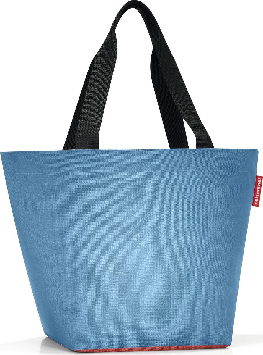 Сумка женская Reisenthel Shopper M, цвет: голубой. ZS4047ZS4047Отличная сумка для похода за продуктами: широкие удобные лямки распределяют нагрузку на плече, а объем 15 литров позволяет вместить все самое нужное. Застегивается на молнию. Внутри - кармашек на молнии для мелочей. Специальное широкое днище для большей вместимости.