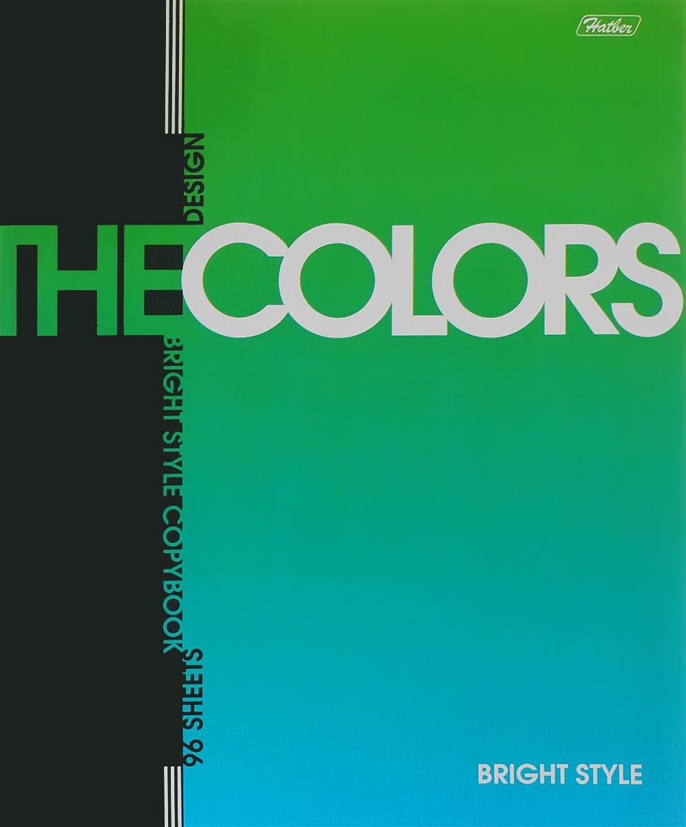 Hatber Тетрадь The Colors 96 листов в клетку цвет зеленыйSMA510-V8-ETТетрадь Hatber The Colors отлично подойдет для занятий школьнику или студенту.Обложка выполнена из плотного картона. Внутренний блок тетради, соединенный металлическими скрепками, состоит из 96 листов белой бумаги в голубую клетку с полями.