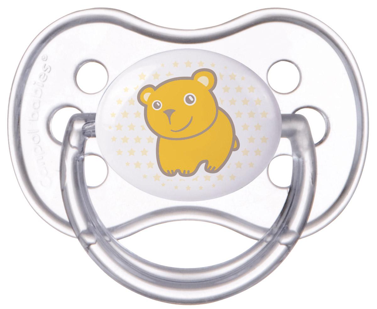 Canpol Babies Пустышка силиконовая Transparent Мишка от 6 до 18 месяцев