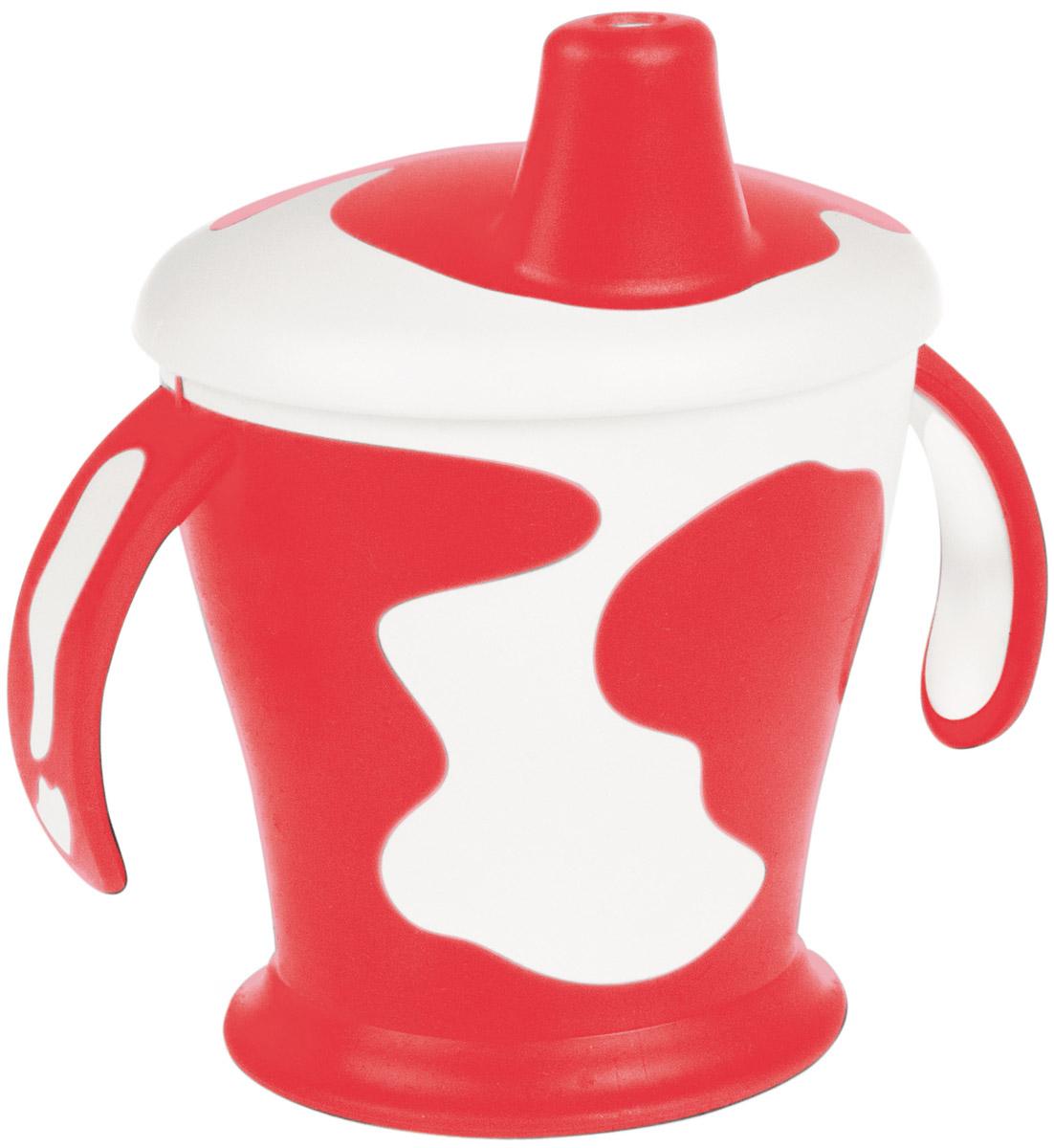 Canpol Babies Поильник-непроливайка Коровка с ручками цвет красный 250 мл