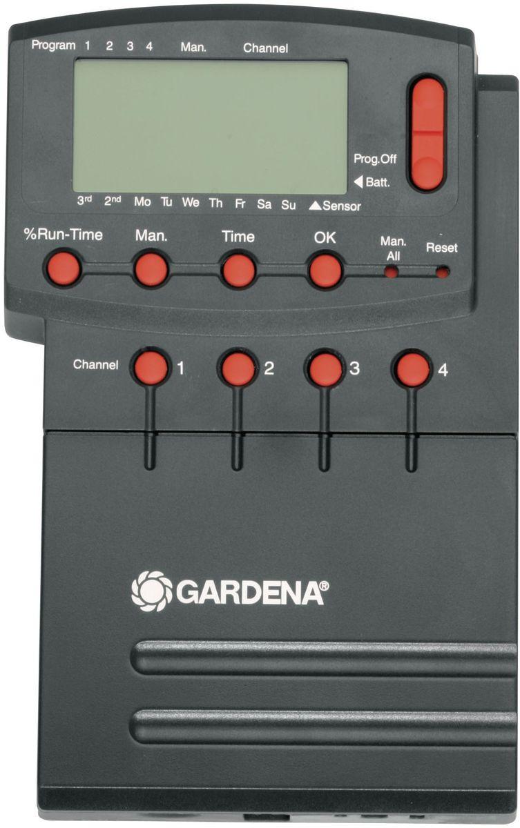Блок управления клапанами для полива Gardena 4040. 01276-27.000.0001276-27.000.00Система управления поливом 4040 modular Comfort GARDENA предназначена для автоматического управления работой крупных систем полива, как правило, выдвижных, к числу которых относится система дождевания GARDENA. Система управления поливом 4040 modular Comfort - идеальный выбор в тех случаях, когда объем подаваемой воды недостаточен для одновременной работы всей системы, в которую, как правило, входят несколько систем полива. Помимо этого, в случае различной потребности в воде отдельных участков система управления поливом 4040 modular осуществляет управление продолжительностью полива на отдельных каналах, обеспечивая тем самым оптимальный полив с учетом всех требований пользователя. Система управления поливом 4040 modular Comfort рассчитана на подключение четырех клапанов для полива 24 В (арт. 1278-20) и дополнительного модуля 2040 Comfort (арт. 1277-20) с возможностью подключения до 12 клапанов. Возможность сохранения до четырех программ для каждого клапана обеспечивает непревзойденную...