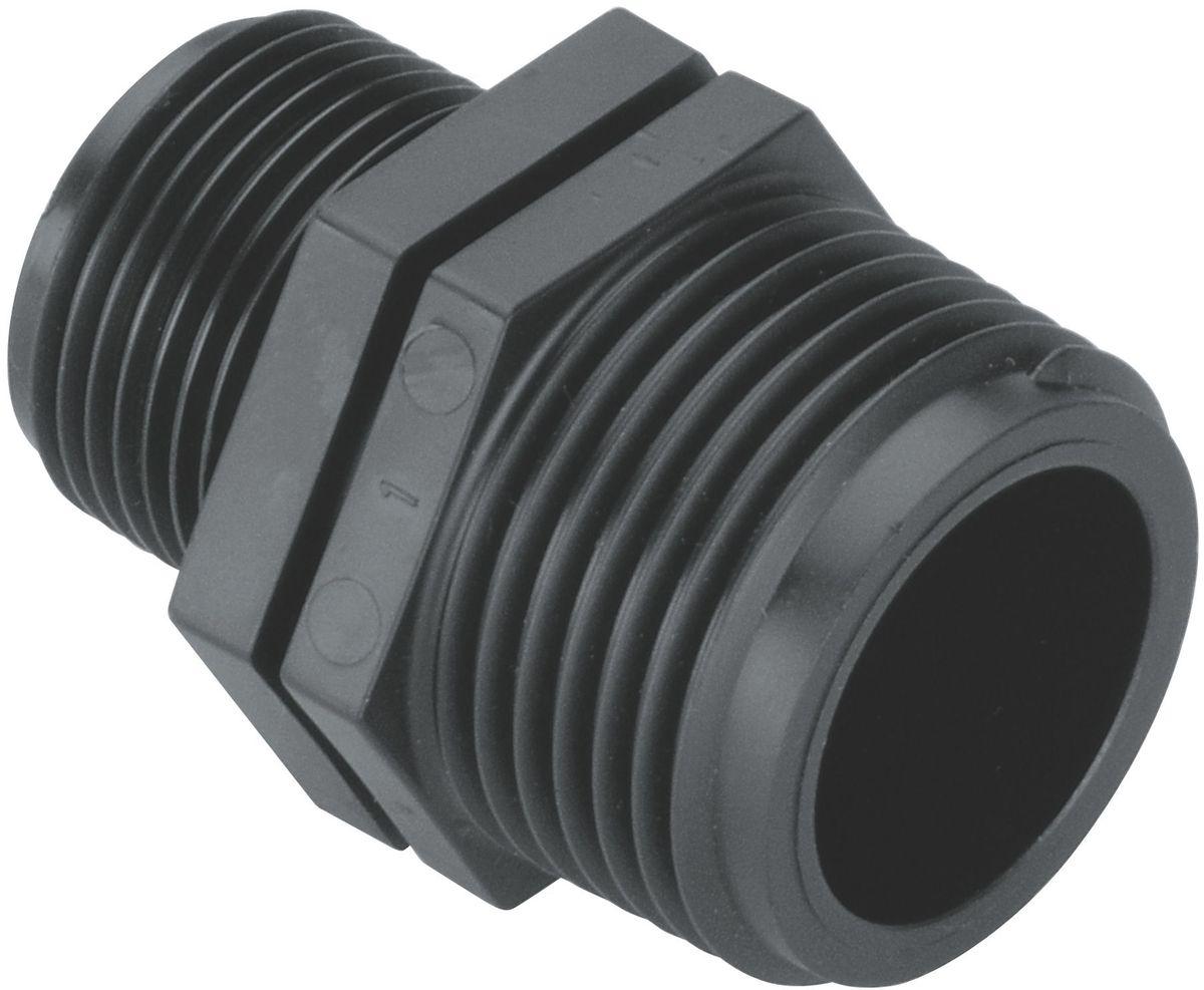 Соединитель Gardena, 1/3/4. 02754-20.000.0002754-20.000.00Для соединения клапанов полива со стороны выходных отверстий в комбинации с 4-образным соединителем / T- и L-образным. Постаавляется без упаковки.