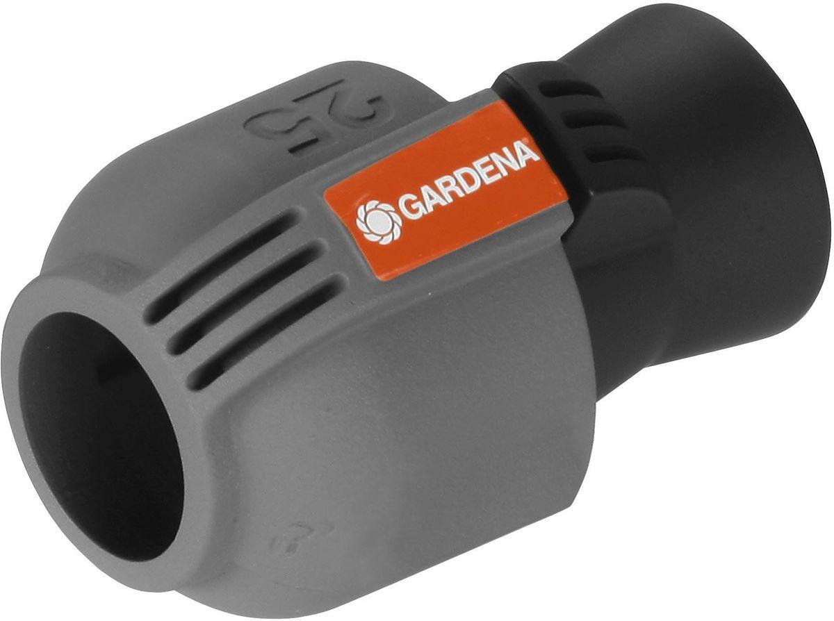 Колонка со спиральным шлангом Gardena, 10 м. 02761-20.000.0002761-20.000.00Соединитель GARDENA 25 мм x 3/4-внутренняя резьба - как составная часть дождевательной системы GARDENA - служит для подключения шланга к входной колонке GARDENA (арт. 2722-20), водозаборной колонке (арт. 8250-20), центральному фильтру (арт. 1510-20) или выдвижному дождевателю S 80/300 (арт. 1566-29). С помощью этого соединителя система полива также может быть напрямую подключена к домашнему водопроводу. Благодаря запатентованной технологии быстрого соединения Quick & Easy (Быстро и просто) монтаж и демонтаж трубопровода осуществляется без инструментов путем простого поворота завинчивающегося фитинга на 140°. Для безопасной работы и достижения водонепроницаемости резьбовое соединение соединителя является самогерметизирующимся.