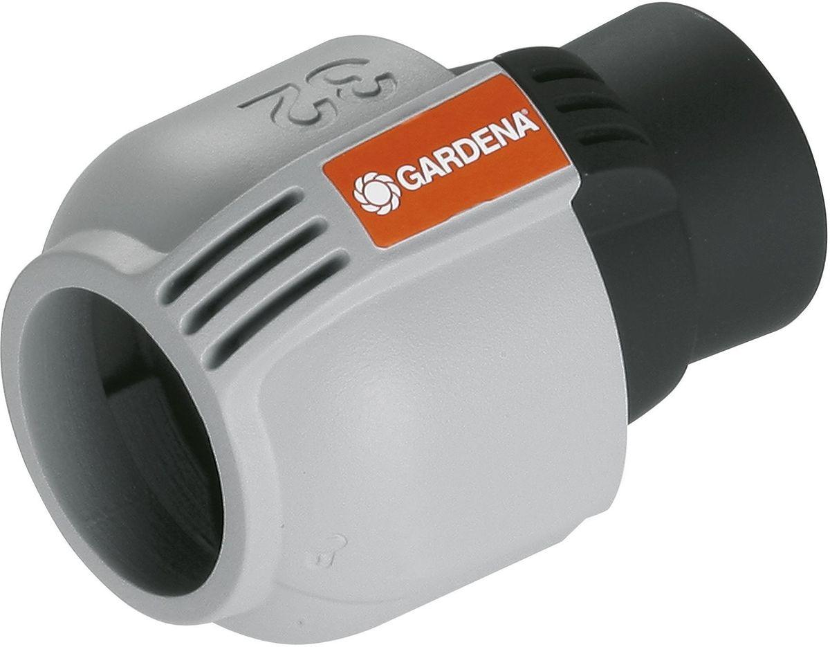 Соединитель Gardena, 32 мм x 3/4, внутренняя резьба. 02767-20.000.0002767-20.000.00Для подсоединения водопровода GARDENA к входной колонке, водозаборной колонке, крану запорному, центральному фильтру, а так же выдвижному дождевателю S 80/300. Также для прямого подсоединения системы полива к домашнему водопроводу. технология быстрого подсоединения Quick & Easy. Самоуплотняющееся резьбовое соединение.