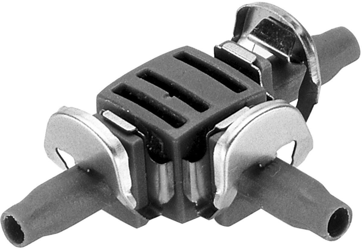 Соединитель Gardena, Т-образный 4,6мм (3/16) 10шт в блистере. 08330-29.000.0008330-29.000.00Соединитель Т-образный GARDENA является элементом системы микрокапельного полива GARDENA Micro-Drip-System и предназначен для разделения подающего шланга на несколько линий. Благодаря патентованной технологии быстрого подсоединения Quick & Easy, установка соединителя чрезвычайно проста. В комплект поставки входят десять Т-образных соединителей.