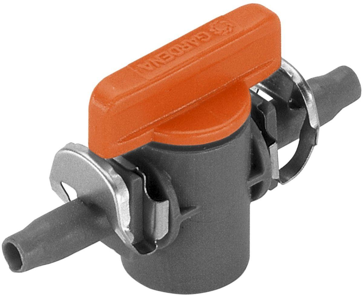 Кран запорный Gardena, 4,6 мм (3/16), 2 шт. 08357-29.000.0008357-29.000.00Кран запорный 4,6 мм (3/16 дюйма) GARDENA является элементом системы микрокапельного полива GARDENA Micro-Drip-System и предназначен для перекрытия потока в отдельной линии подающего шланга. Кран запорный позволяет плавно регулировать режим полива кругового микродождевателя. Благодаря патентованной технологии быстрого подсоединения Quick & Easy, установка крана чрезвычайно проста. В комплект поставки входят два крана.