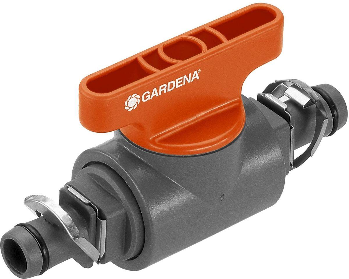 Кран запорный Gardena, 13 мм (1/2). 08358-29.000.0008358-29.000.00Кран запорный 13 мм (1/2 дюйма) GARDENA является элементом системы микрокапельного полива GARDENA Micro-Drip-System и предназначен для перекрытия потока в отдельной линии магистрального шланга. Благодаря патентованной технологии быстрого подсоединения Quick & Easy, установка крана чрезвычайно проста.