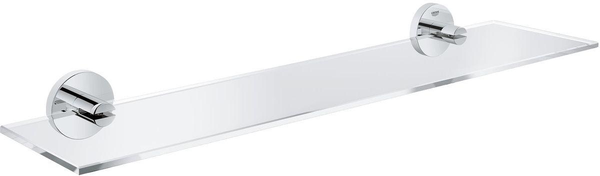 Полка для ванной комнаты Grohe Essentials40799001Навесная полка Grohe Essentials сэкономит место в вашей ванной комнате. Она пригодится для хранения различных принадлежностей, которые всегда будут под рукой. Благодаря компактным размерам полка впишется в интерьер ванной комнаты и позволит удобно и практично хранить предметы личной гигиены. Длина полки: 53 см. Ширина полки: 12,5 см.
