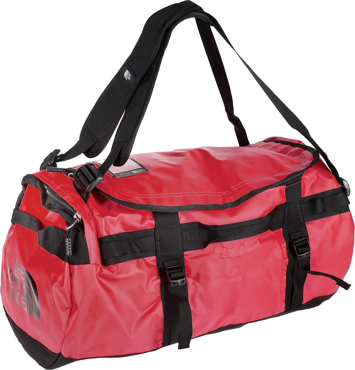 Сумка-рюкзак The North Face, цвет: красный, черный, 71 л. CWW2_KZ3T0CWW2KZ3Удобная экспедиционная сумка-рюкзак The North Face, вместительная модель, которая подойдет на любой жизненный случай. Изготовлена модель из сочетания водонепроницаемого баллистического нейлона и полиэстера с TPE ламинированием. Корпус изделия укреплен поперечными лентами с двойной отстрочкой и по бокам четырьмя лентами для утяжки. Модель имеет улучшенные эргономичные плечевые лямки, новые укрепленные боковые ручки, которые позволяют с удобством переносить или тащить тяжелые грузы. Основное отделение сумки застегивается на U-образную молнию с защитой от влаги. Также изделие оснащено дополнительным боковым карманом на молнии с внутренним сетчатым кармашком. Верхняя крышка сумки дополнена небольшим отделением для бейджа с персональными данными, а с внутренней стороны имеет карман на молнии из сетчатой ткани. Оформлена модель износостойким принтом с логотипом бренда.