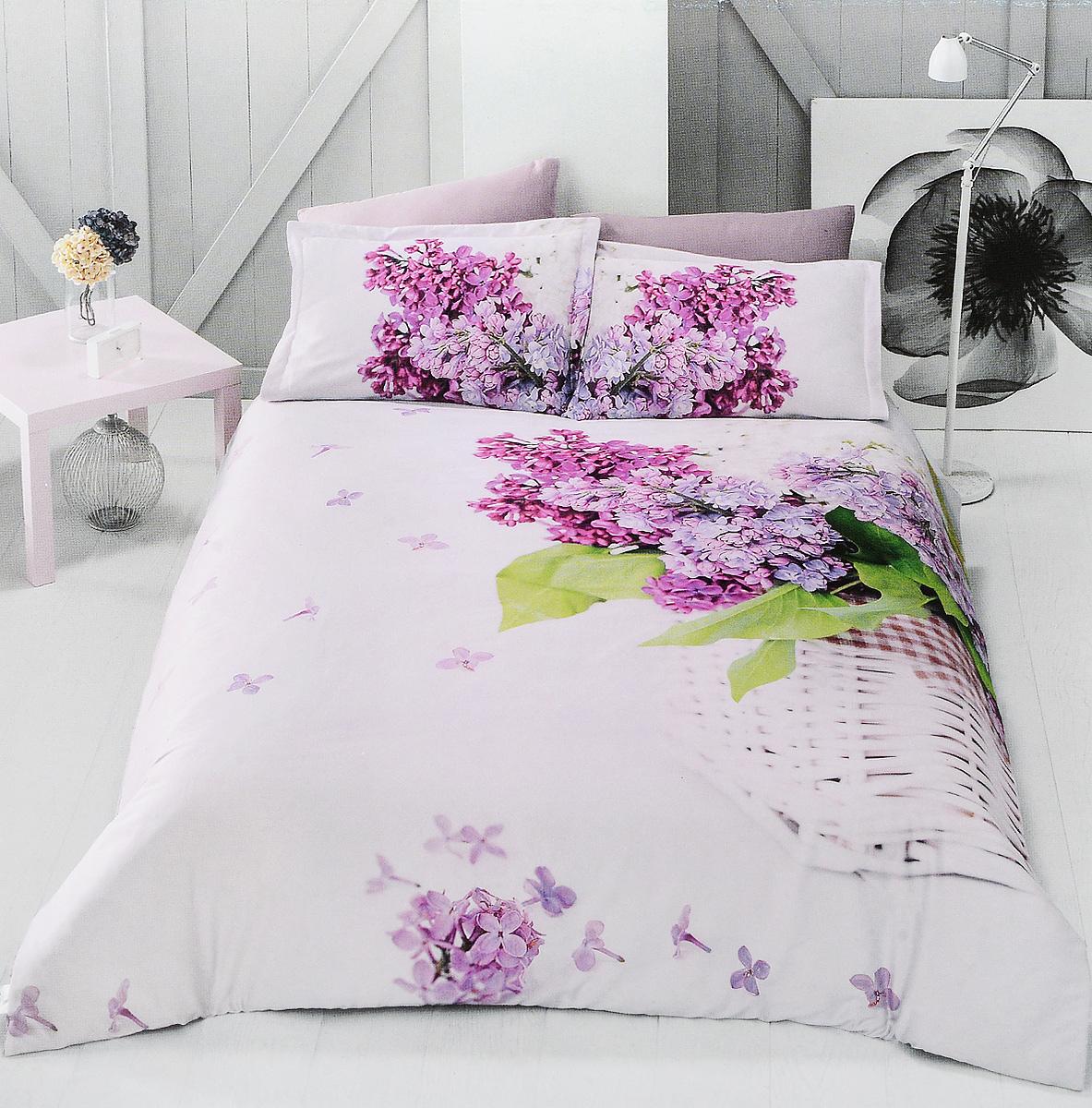 Комплект белья Clasy Lilac, евро, наволочки 50х70, цвет: розовый, фуксия00000005299Комплект постельного белья Clasy Lilac состоит из пододеяльника на пуговицах, простыни и 4 наволочек (2 стандартные и 2 с ушками). Изделия выполнены из сатина (100% хлопок). Ткань гладкая и имеет ровный матовый блеск. Секрет заключается в особенно плотном сатиновом переплетении. Несмотря на особую плотность, это постельное белье очень мягкое, спать на нем уютно и тепло. Ткань обладает отличными гигиеническими свойствами - гигроскопичностью, воздухопроницаемостью и гипоаллергенностью. Краска на сатине держится очень хорошо, новое белье не полиняет и со временем не станет выцветать. Такой комплект прослужит дольше любого другого хлопкового белья. Благодаря диагональному пересечению нитей ткань почти не мнется. В производстве белья используются только качественные безопасные импортные красители, которые не содержат вредных химических веществ и позволяют сохранить яркость красок после многократных стирок. Белье упаковано в подарочную картонную коробку.