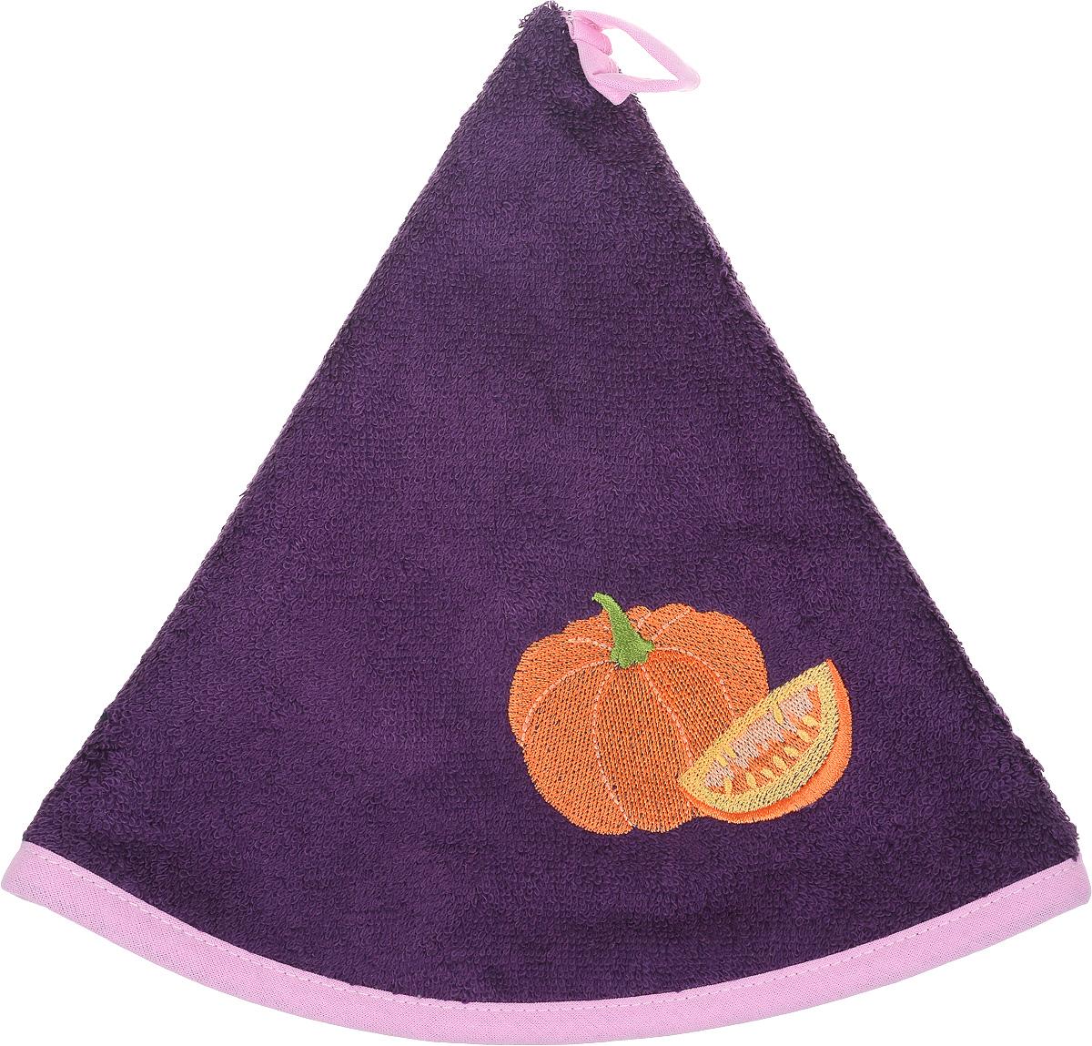 Полотенце кухонное Karna Zelina. Тыква, цвет: фиолетовый, диаметр 50 см504/CHAR005_ фиолетовый,розовыйКруглое кухонное полотенце Karna Zelina. Тыква изготовлено из махровой ткани (100% хлопок), поэтому является экологически чистым. Качество материала гарантирует безопасность не только взрослым, но и самым маленьким членам семьи. Изделие мягкое и пушистое, оснащено удобной петелькой и украшено оригинальной вышивкой. Полотенце хорошо впитывает влагу, легко стирается в стиральной машине и обладает высокой износоустойчивостью. Кухонное полотенце Karna сделает интерьер вашей кухни стильным и гармоничным. Диаметр полотенца: 50 см.