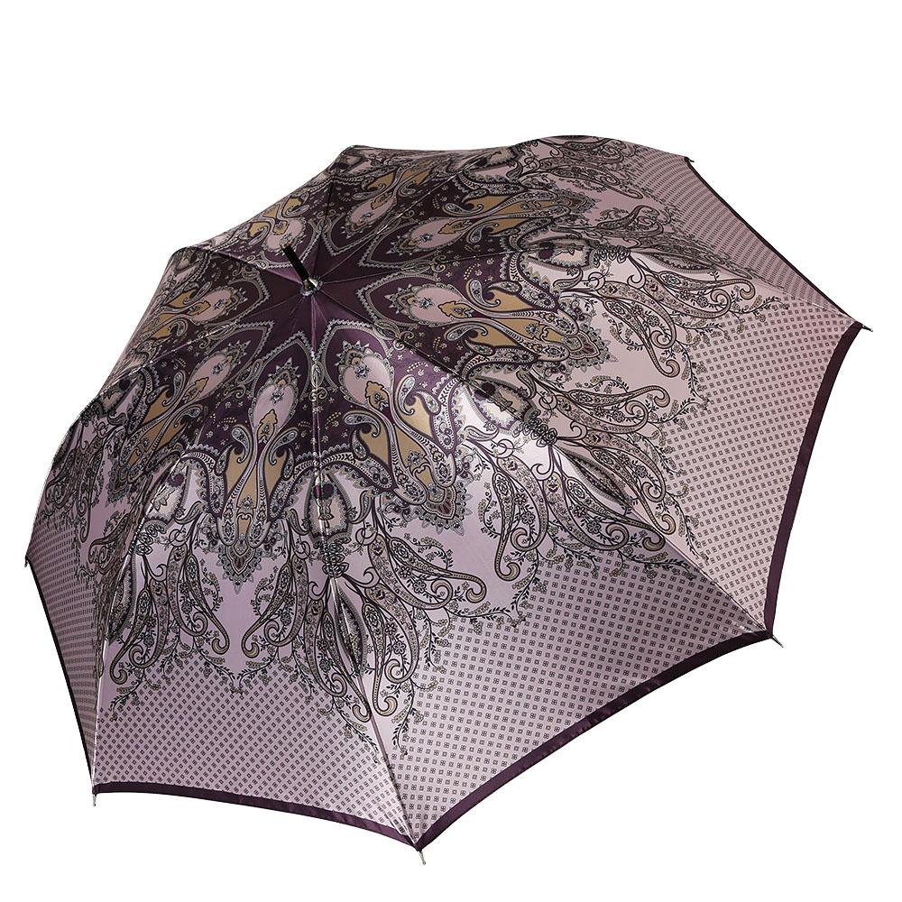 Зонт женский Fabretti, цвет: мультиколор. 17111711Женский зонт-трость от итальянского бренда Fabretti выполнен из стали и фибергласса, поэтому модель устойчива к сильному ветру. Женственный нежно-розовый цвет и роскошный принт в стиле барокко подчеркту вашу утонченность и сделают вас неотразимой в любую непогоду. Дизайнерский принт в виде изящного кружевного рисунка дополнит любой современный образ! Материал купола – сатин. Он невероятно изящен, приятен на ощупь, обладает высокой прочностью, а также устойчив к выцветанию. Эргономичная ручка сделана из высококачественного пластика-полиуретана с противоскользящей обработкой!