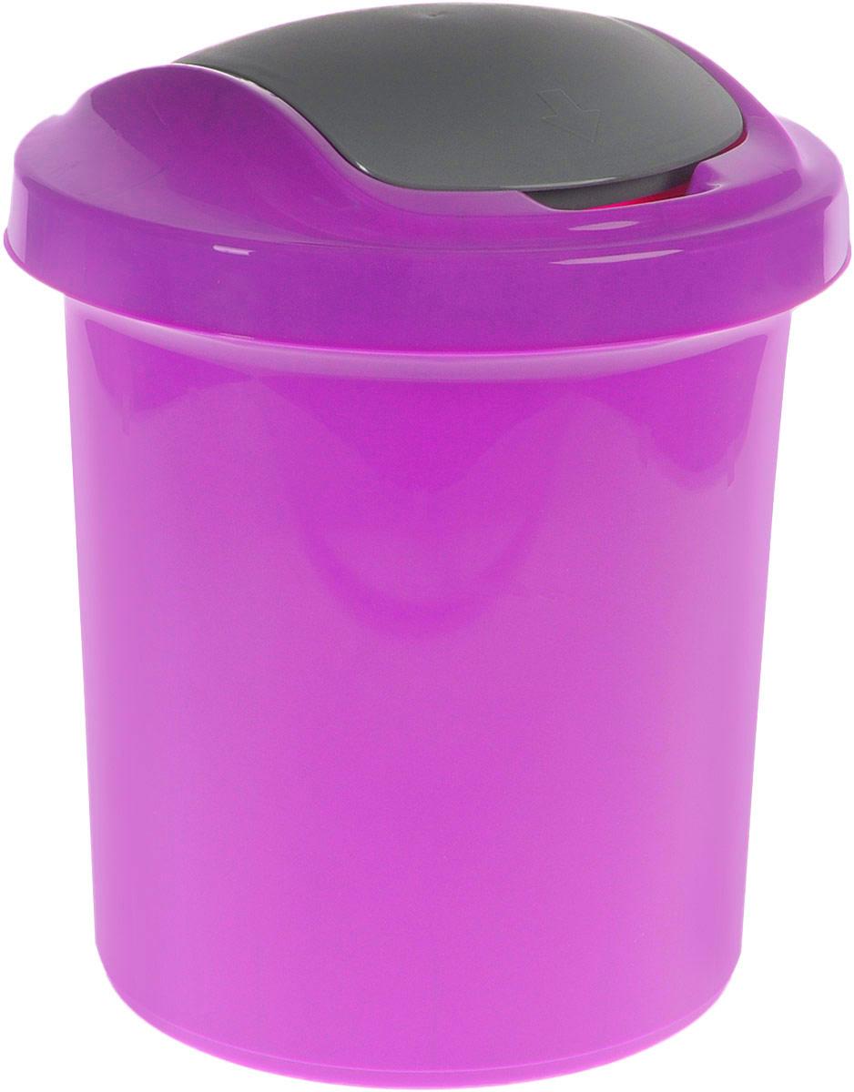 Контейнер для мусора Svip Ориджинал, цвет: фиолетовый, серый, 12 лU110DFМусорный контейнер Svip Ориджинал поможет поддержать порядок и чистоту на кухне, в туалетной комнате или в офисе. Контейнер выполнен из полипропилена. Изделие оснащено крышкой с двойным механизмом открывания, что обеспечивает максимально удобное использование: откидной крышкой можно воспользоваться при выбрасывании большого мусора, крышкой-маятником - для мусора меньшего объема. Скрытые борта в корпусе изделия для аккуратного использования одноразовых пакетов и сохранения эстетики изделия. Съемная верхняя часть контейнера обеспечивает удобство извлечения накопившегося мусора. Эстетика изделия превращает необходимый предмет кухни или туалетной комнаты в стильное дополнение к интерьеру. Его легкость и прочность оптимально решают проблему сбора мусора.