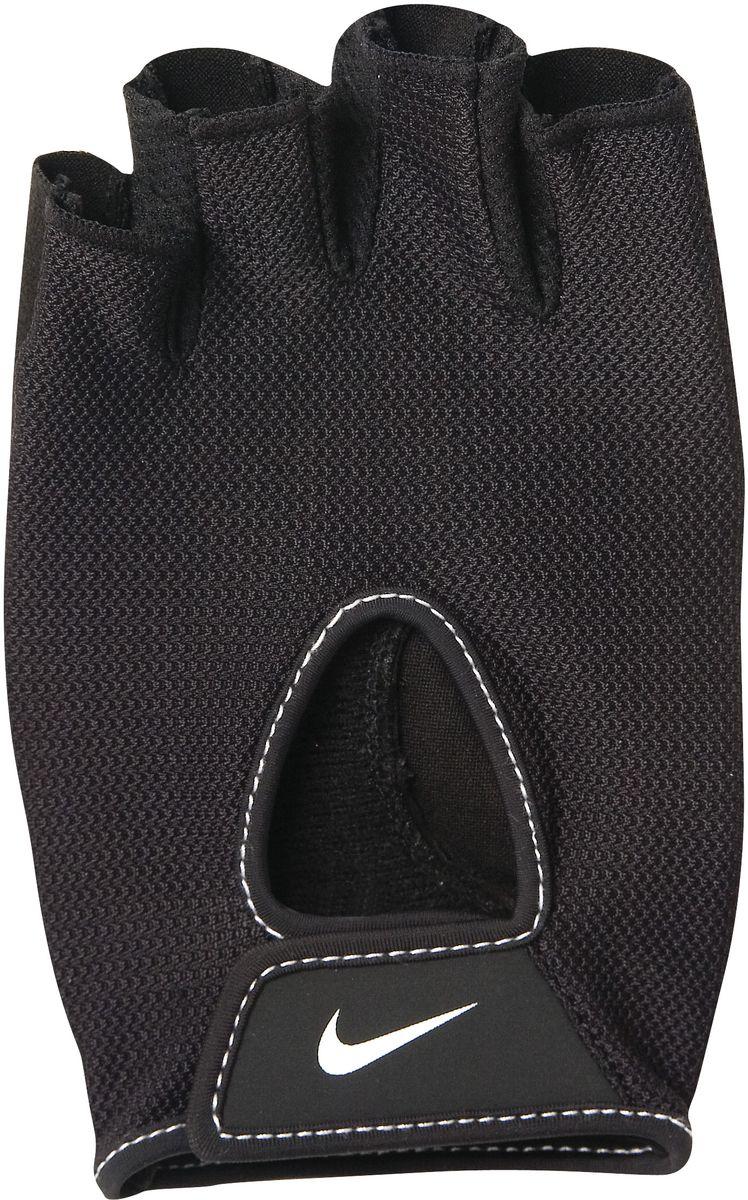 Перчатки тренировочные женские Nike Wmns Fundamental Training Gloves II, цвет: черный. Размер LGESS-132Регулируемая застежка на запястье обеспечивает надежную посадку.Трафаретная печать swoosh-лого на внешней стороне модели обеспечивает моментальную идентификацию бренда.Внутренняя часть перчаток выполнена из замшезаменителя, что обеспечивает комфорт и долговечность в использовании данного аксессуара.Высокое качество исполнения.