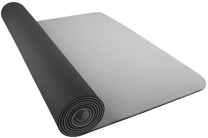 Коврик для йоги Nike Yoga Mat 5mm, цвет: темно-серый, светло-серыйRUC-01Текстура нижнего слоя обеспечивает дополнительным сцеплением. Легко скручивается и сохраняет плоскую форму после раскручиванияТолщина 5 мм обеспечивает комфорт во время тренировок на твердом полу Шнурок для переноски обеспечивает комфортную транспортировку.