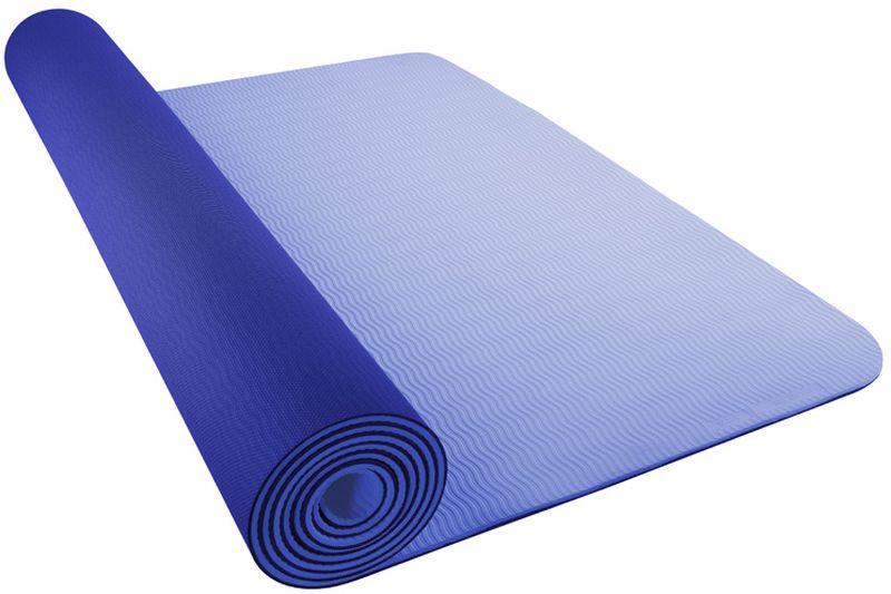 Коврик для йоги Nike Yoga Mat 5mm, цвет: синийN.YE.31.447.OSТекстура нижнего слоя обеспечивает дополнительным сцеплением. Легко скручивается и сохраняет плоскую форму после раскручивания. Толщина 5 мм обеспечивает комфорт во время тренировок на твердом полу. Шнурок для переноски обеспечивает комфортную транспортировку.
