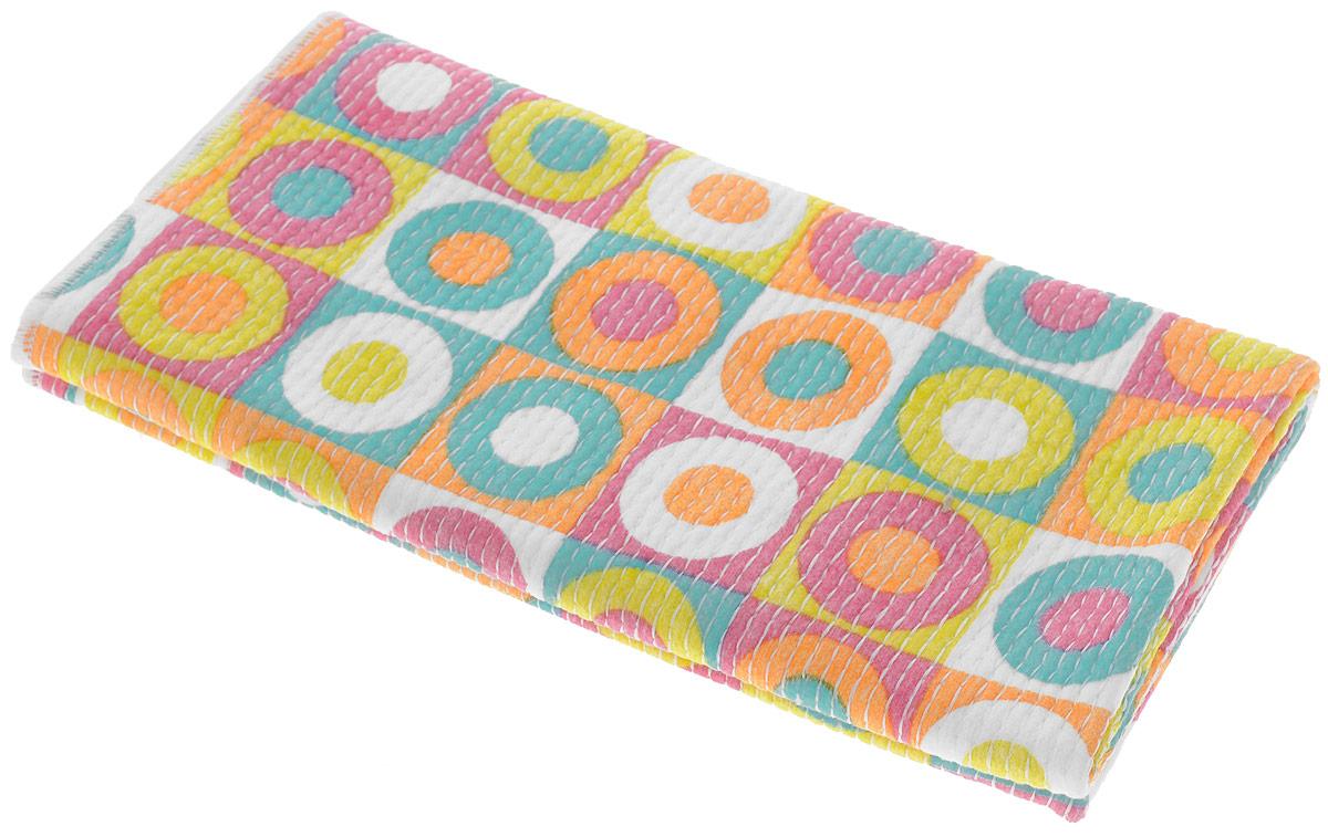 Тряпка универсальная VANI Дизайнерские принты, 50 х 70 смV 0131_разноцветные круги в квадратахУниверсальная тряпка VANI Дизайнерские принты предназначена для уборки. Тряпку можно эффективно использовать как во влажном, так и в сухом виде. Ткань из микрофибры имеет эффект губки и впитывает гораздо больше воды, чем обычная ткань. Материал микрофибра, имея внутренний статический заряд, притягивает и удерживает микроскопическую пыль. Тряпка износостойкая, не оставляет разводов. Возможна машинная стирка при 40°С. Размер 50 х 70 см.