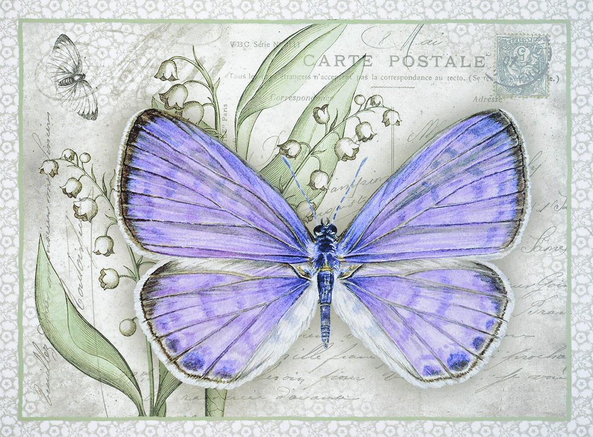 Картина-репродукция без рамки Magic Home Сиреневая бабочка, 30 х 40 см44491Картина-репродукция Magic Home Сиреневая бабочка дополнит интерьер любого помещения, а также может стать изысканным подарком для ваших друзей и близких. Картина изготовлена с помощью печати на прочном основании из МДФ. На задней стороне картины имеются две специальные выемки для подвешивания. Благодаря оригинальному дизайну картина может использоваться для оформления любых интерьеров. Такая картина - вдохновляющее декоративное решение, привносящее в интерьер нотки творчества и изысканности!